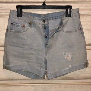Vintage High Waisted Levi's Short 501